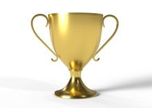 Golden Trophy Cup Isolated On ...