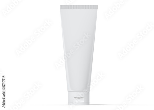 Leinwand Poster White tube of cream 3d rendering