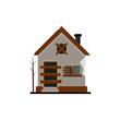 broken house icon design style. broken house logo isolated on white background