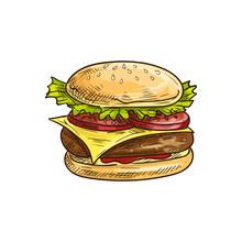 Big Royal Cheeseburger Isolate...