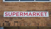 Old Urban Supermarket Sign