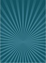 Sunlight Vertical Background. Blue Color Burst Background.
