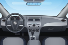 Realistic Dark Vehicle Car Int...