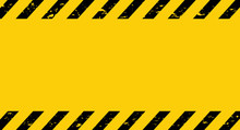 Black And Yellow Caution Tape....