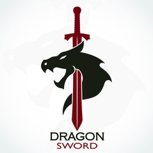 Color Dragon Sword Logo