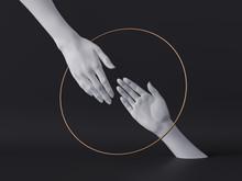 3d Render, White Female Hands ...