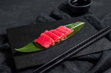 Fresh Raw Sashimi Tuna On A St...