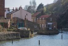 Coastal Village Of Staithes , Yorkshire, England.
