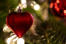 A Red Heart As Christmas Decor...