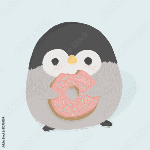 Penquin with donut