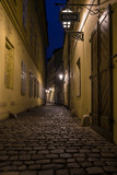 Fototapeta Uliczki - Narrow street of Praque at night.