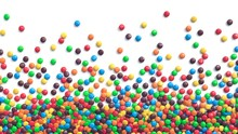 Colorful Coated Chocolate Cand...