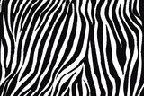 Fototapeta Zebra - Trendy zebra animal print with black and white for fabric, wallpaper, cover, poster and other users.