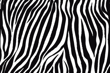 FototapetaTrendy zebra animal print with black and white for fabric, wallpaper, cover, poster and other users.