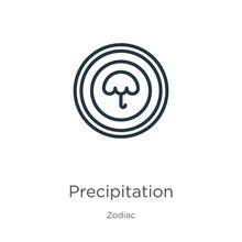 Precipitation Icon. Thin Linea...