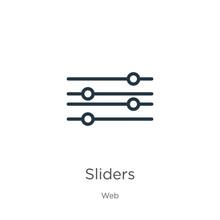 Sliders Icon. Thin Linear Slid...