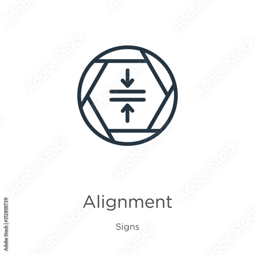 Alignment icon Canvas Print