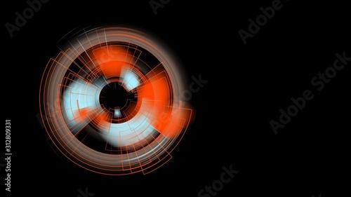 Technologie-Kreis Hintergrund, abstraktes Design für Poster, Buch, Webseite, Bro фототапет