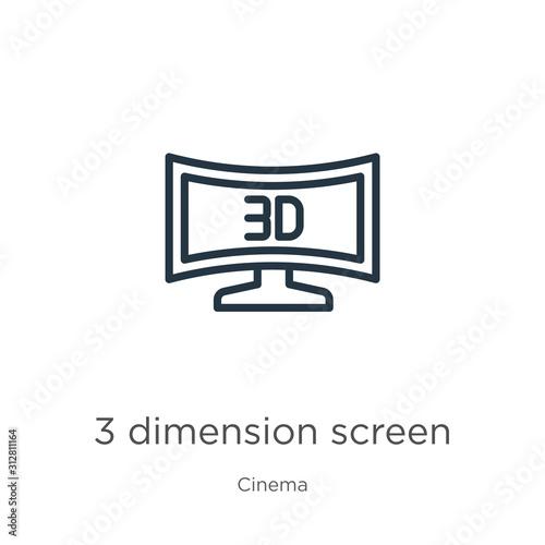 Photo 3 dimension screen icon
