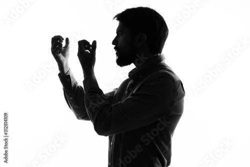 man with bottle of wine Fototapet