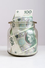 Jar With Polish Money Inside. ...