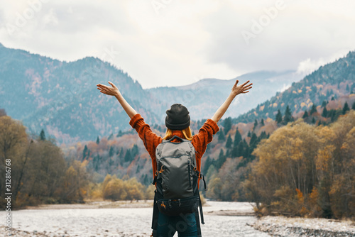 man with open arms raised Canvas Print