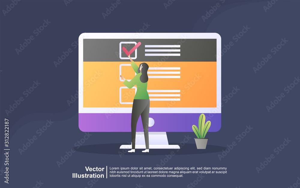 Fényképezés Illustration concept of online support