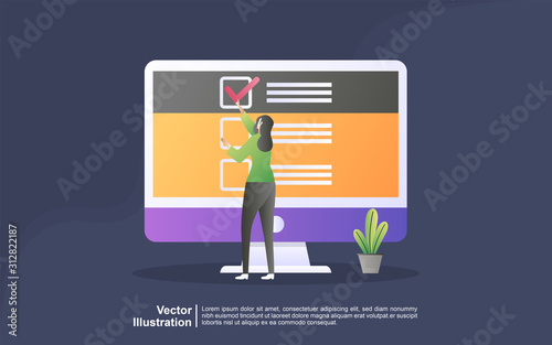 Fotografija  Illustration concept of online support