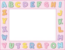 Alphabet Frame, Pink Gingham C...