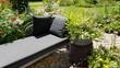 Leinwandbild Motiv Garten, relaxen, Pflanzen
