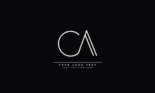 CA ,AC ,C ,A Letter Logo Design With Creative Modern Trendy Typography