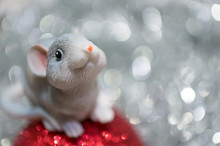 Toy Mouse On A Christmas Ball ...