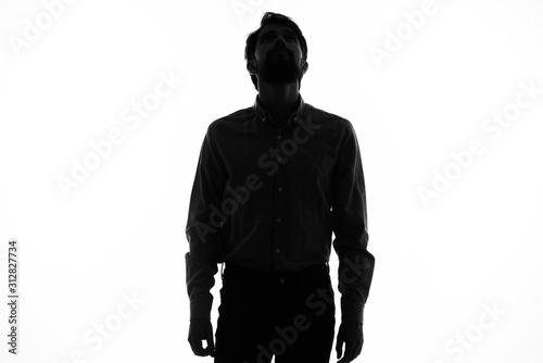 silhouette of man Tablou Canvas