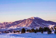 Winter Mountain Landscape Sunset