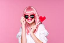 Girl In Pink Glasses