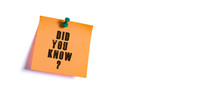 Did You Know ? Text Message On...