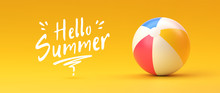 Beach Ball. Summer And Vacatio...