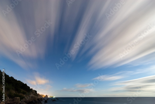 Photographie motion of clouds at long exposure