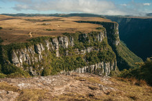 Fortaleza Canyon With Steep Cliffs And Plateau