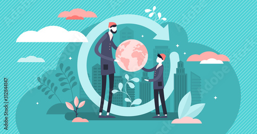 Generation change vector illustration Fototapete