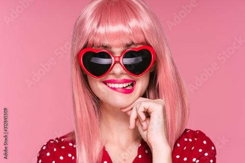 Fototapeta girl with sunglasses