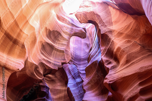 Textured walls of Antelope Canyon