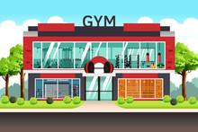 Fitness Center Gym Illustration