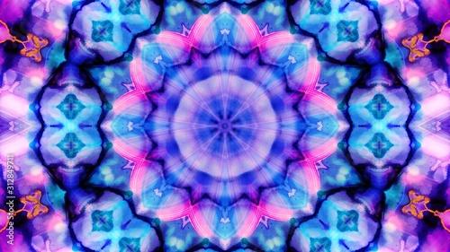 Obraz Kaleidoscope Mandala Art Design Abstract Background - fototapety do salonu