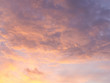 Beautiful colorful sky at sunset with cumulus clouds. Purple and pink sky wallpaper