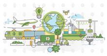 Green Logistics Vector Illustr...