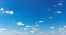 Beautiful Blue Sky With Soft White Cloud Background