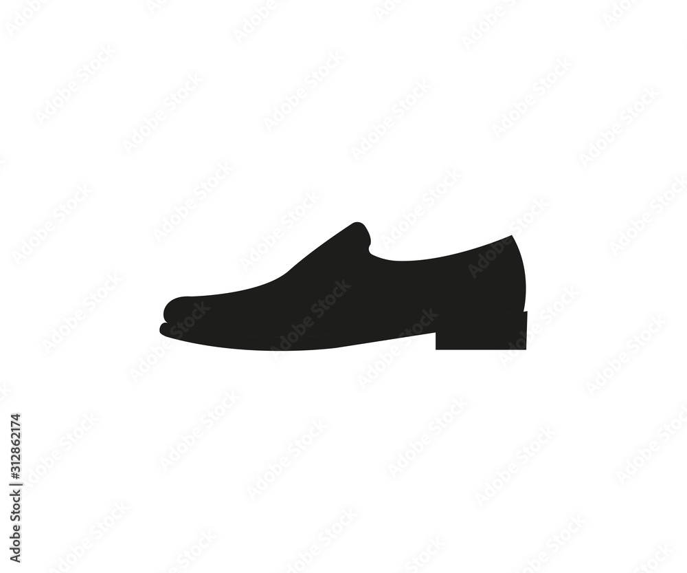Fototapeta Mens shoe icon. Vector illustration, flat design.