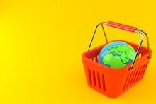 World Globe Inside Shopping Ba...