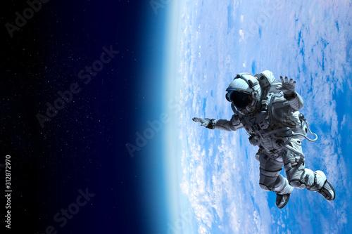 Fototapeta Exploring outer space. Mixed media obraz